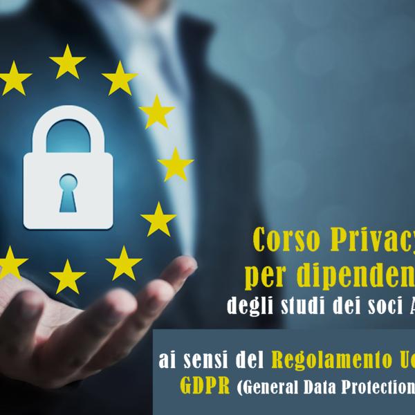 Corso Privacy GDPR per dipendenti organizzato dall'ANDI Nazionale